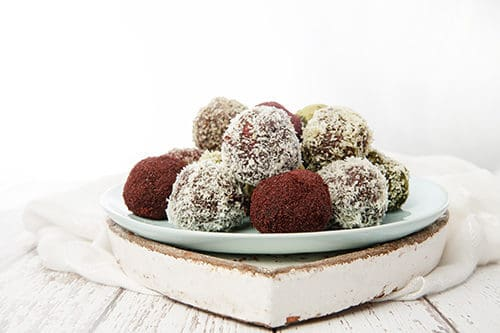 Coloured Acai Bliss Balls